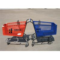 Wholesale 180L Pure Plastic Shopping Carts With Wheels , Custom Small Plastic Trolley from china suppliers