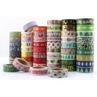 Wholesale Halloween Christmas Festival Washi Tape Sticker Roll Custom Decorative Washi Paper Tape Glitter tape Cotton cloth tape from china suppliers