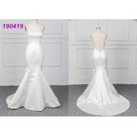 Wholesale Micado A Line Halter White Mermaid Wedding Dress Spring Modern Bridal Wear from china suppliers