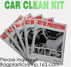 Wholesale Disposable Plastic Car Cover With Elastic Band Medium Size, Kit De Protection, Car Clean Kit, Car Protection Disposable from china suppliers