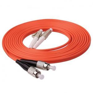 Buy cheap 1m (3ft) LC UPC to FC UPC Duplex 2.0mm PVC (OFNR) OM1 Multimode Fiber Optic from wholesalers