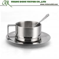 Buy cheap Promotion Coffee Tea cup set Double Wall Metal Coffee Mug Stainless Steel 18/8 from wholesalers