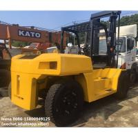 Wholesale used diesel 2012 model 15ton komatsu forklift truck FD150E-7  low work hrs widely used in ports and factory from china suppliers