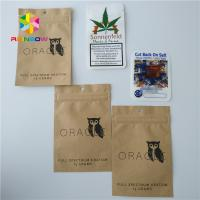 Buy cheap Kraft Paper Weed Bags Foil Pouch Packaging Ziplock Aluminum Foil For 1/4 Gram from wholesalers
