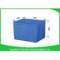 China Rectangle Folding  Plastic Storage Trays Long Service Life 545 * 420 * 380mm on sale