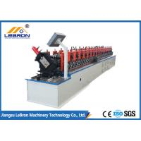 4KW Metal Stud And Track Roll Forming Machine , 3.5m Length Metal Stud Roll Former
