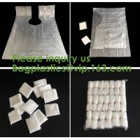 Wholesale compostable kitchen apron Biodegradable Gloves Sleeves PLA/PBAT/Corn Starch Compostable Bag singlet bags, vest carrier from china suppliers