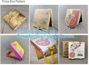Wholesale Food Grade Flute Corrugated Custom Printed Size Caja Para Pizza Design Cardboard Carton Pizza Box from china suppliers