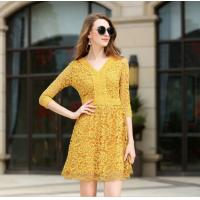 Wholesale Slim Lace A Word Type Elegant Office Dresses Office Work Wear Ladies from china suppliers