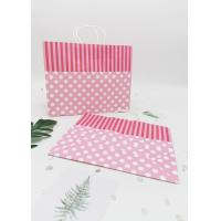 Quality Recycled  Decorating Paper Bags For Gifts /  Retail  Kraft Paper Gift Bags for sale