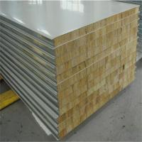 Wholesale RAL9002 color manufactured home 50mm rock wool sandwich wall panels from china suppliers