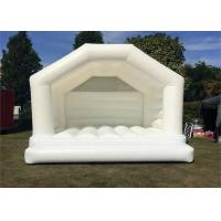 Buy cheap 0.55mm PVC Tarpaulins Blow Up Inflatable White Wedding Bouncy Castle from wholesalers