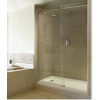 Quality 32  X 60 / inches glass Corner Shower Enclosures 304 stainless steel Rail bar Material for sale