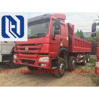 China EuroII 30T 6x4 Cat Dump Truck With Middle Lifting And Q235 Steel Material on sale
