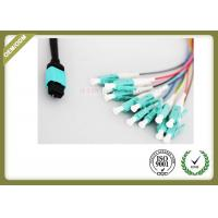 Buy cheap 8 / 12 Core Om3 Fiber Optic Cable To LC Termination PVC LSZH Jacket from wholesalers
