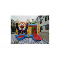 Buy cheap PVC Tarpaulins Waving Smiling Clown Bouncer With Slide Jumping Castle For kids from wholesalers