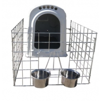 Wholesale NTG103 Front 2 Holders L78in Dairy Calf Hutches from china suppliers