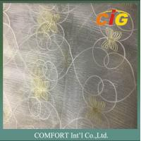 Wholesale 60 G/M2 Polyester Material Home Textile Products Embroidered Voile Curtain Fabric from china suppliers