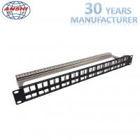 Wholesale Shielded Stp Rack Mount Patch Panel 48 Port 19 Inch With Cable Management from china suppliers