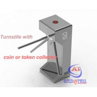 Buy cheap Half Height Coin or Token Operated turnstile entrance gates for Swimming Pool Entrance from wholesalers