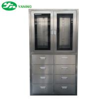 Wholesale Stainless Steel Medical Cabinet With 8 Pcs Drawer Half Swing Door Adjustable Shutter from china suppliers