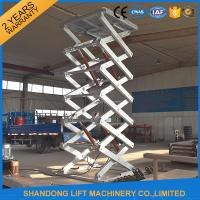 China Hot Dip Galvanized Stationary Hydraulic Scissor Lift , Cargo Loading Industrial Lift Tables on sale