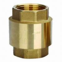 China Brass Universal Check Valve with Rubber Seat, Plastic or Brass Disc Available on sale