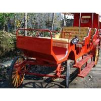 China Comfortable Horse Cart With Same Way Soft Seats and Hood (GW-HC034) on sale