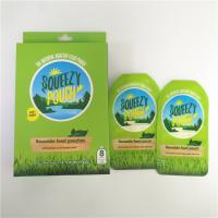 China Reusable Spout Pouch Packaging BPA Free Custom Printed Double Zipper With Nozzle on sale