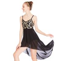 Wholesale MiDee Elegant Cami Flora Sequins Lyrical Costumes Dance Dress Gentle High-Low Skirt Competition Performance Stage Wear from china suppliers