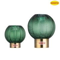 Wholesale Sprayed Lantern Shaped Leaf Textured Glass Vase Hand Blown from china suppliers