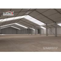 Buy cheap 20X80m White Aluminum and PVC Warehouse Tent for Temporary Storage Structures from wholesalers