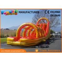 Wholesale 0.55mm PVC Tarpaulin New Inflatable Slide Jumping Castles Inflatable Water Slide from china suppliers