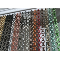 Buy cheap Golden Color Customized Aluminum Link Chain Curtains Room Divider from wholesalers