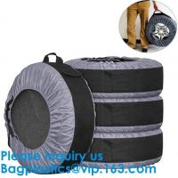Wholesale Anti UV Automotive 600D Wheel And Tyre Bags Automotive Spare Tire Tyre Wheel Cover With Carrying Handles Tote Car Wheel from china suppliers
