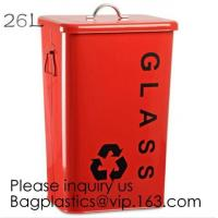 Wholesale Kitchen/Home/Household/Outdoor/Recycling,Copper Garbage Can Tin Garbage Bin,Pedal Tin Waste Bin,galvanized metal Tin gar from china suppliers