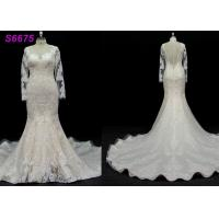 Wholesale long sleeves customize made lace application bridal gown wedding dresses from china suppliers