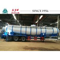 Wholesale V Shaped 35 Tons Oil And Chemical Tanker 3 Axles With Spring Suspension from china suppliers