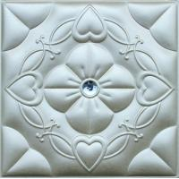 Wholesale Customized PC Silver 3D Leather Wall Panels Living Room Background from china suppliers