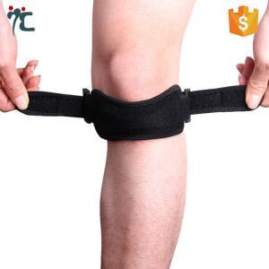 China adjustable open patella tendon knee support strap brace belt knee band on sale