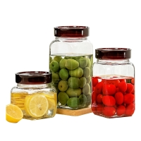 Wholesale Borosilicate 1250ML 1550ml Jam Pickle Sealable Glass Jars from china suppliers