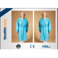 Wholesale Safety Disposable Surgical Gowns / Medical Isolation Gowns Free Sample 35/40/45Gsm from china suppliers