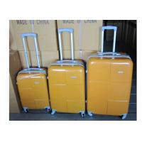 Wholesale Hard Case ABS PC Silver Aluminum Trolley Luggage 20 / 24 / 28 Inch Waterproof from china suppliers
