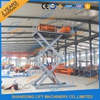 Buy cheap CE 3T 4.5M Stationary Hydraulic Scissor Lift Table Scissor Lift Platform for from wholesalers