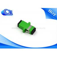 Buy cheap Plastic SC APC single mode one piece type fiber optical adapter from wholesalers