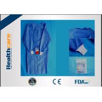 Wholesale SMS Sterile Disposable Surgical Gowns , Disposable Theatre Gowns Anti - Blood S-3XL from china suppliers