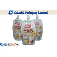 Wholesale Colorful printing Stand Up Pouch With Spout , Foil lined liquid packaging bags from china suppliers