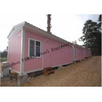 Wholesale Light Duty 40ft Prefab Container House For Temporary Accommodation With Painted Surface from china suppliers