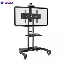 Wholesale TC64B TV Cart Mobile TV Stand Wheeled Height Adjustable Flat Screen Television Stands with Rolling Casters and Shelf from china suppliers