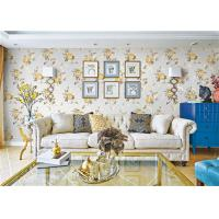 Wholesale Removable Indoor Non Woven Wallcovering For Bedroom Walls , Flower Design from china suppliers